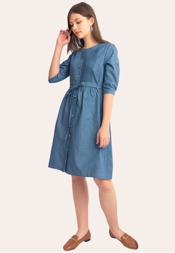 L'zzie blue LZZIE ALEXIS DRESS - LIGHT BLUE 0E939AAD2EE084GS_1