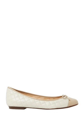 Nina Armando beige Bruna Leather Ballet Flats NI342SH0FV8NSG_1