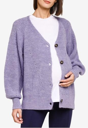 Mama.licious blue Maternity Aileen Long Sleeve Knit Cardigan A0819AA6249728GS_1
