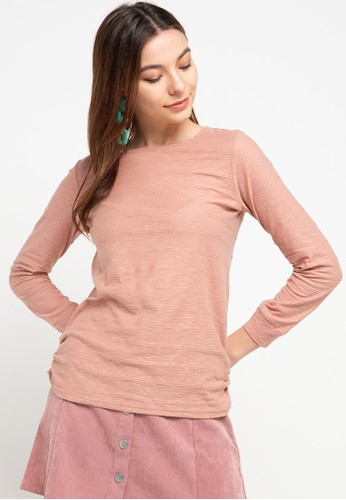 Exit pink Sefana Shirt With Rubbes 88F80AA79085E6GS_1