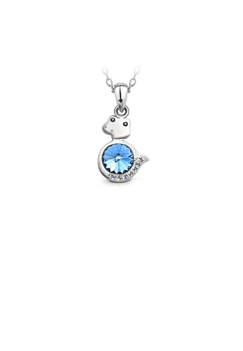 Glamorousky blue Chinese Zodiac Zodiac Pendant with Blue Austrian Element Crystal and Necklace DD68BAC34C892FGS_1