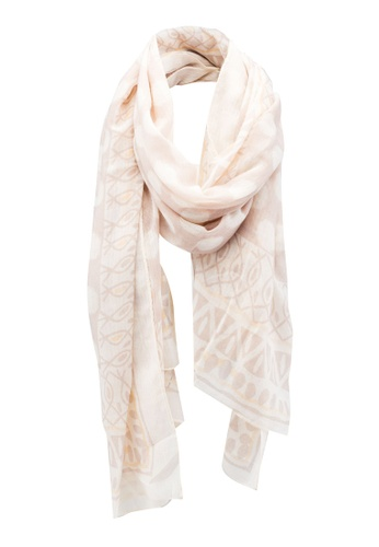 Dressing Paula beige Geometric Print Rectangle Scarf 20B6CAAF85631EGS_1