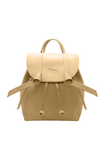CO BLANC beige CO BLANC - Front Flap Backpack with Twisted Knots B0219AC1F177BBGS_1