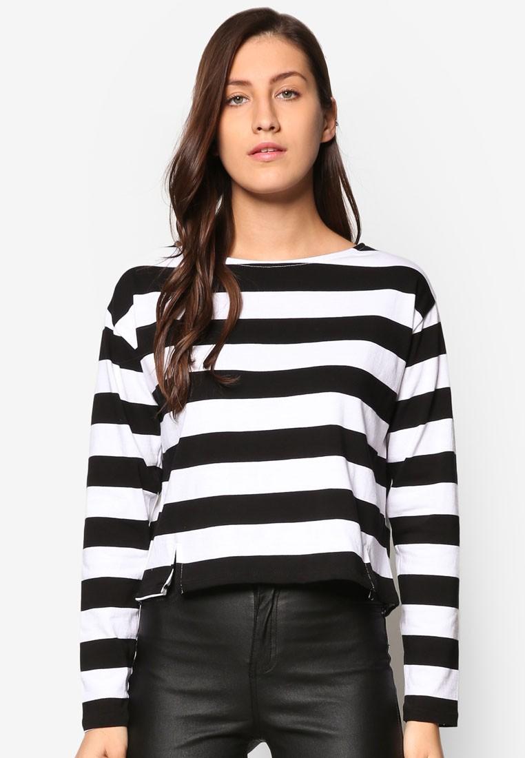 Black Stripe Grazer Top