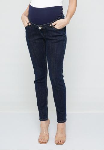 9months Maternity blue Indigo Full Panel Skinny Jeans 48195AA9D1AE2BGS_1