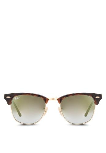Ray-Ban brown Clubmaster RB3016 Sunglasses RA896GL02CYFMY_1