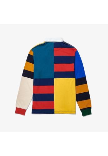 Lacoste multi Men's Lacoste LIVE Loose Fit Colourblock Cotton Rugby Style Polo Shirt 4E7C8AA81E9A89GS_1