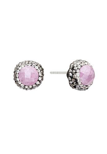 Fervor Montreal pink Fervor Montreal-Druzy Earrings Round 46D99ACBB79939GS_1
