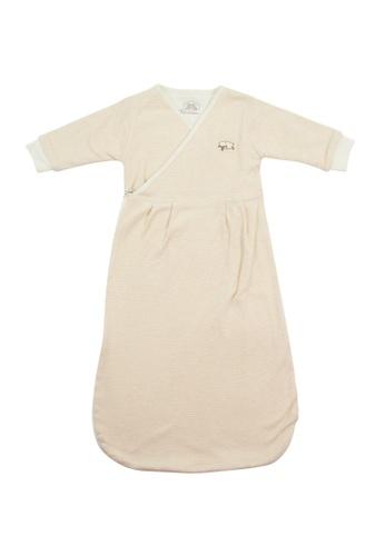 Bebeganic brown 100% Natural Cotton Sleeping Bag 2A424KC5ADF363GS_1