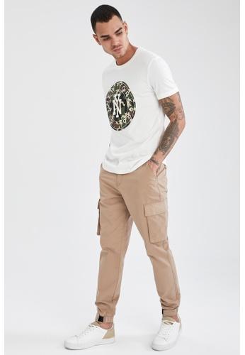 DeFacto beige Slim Cargo Trousers 026B7AAE20618DGS_1
