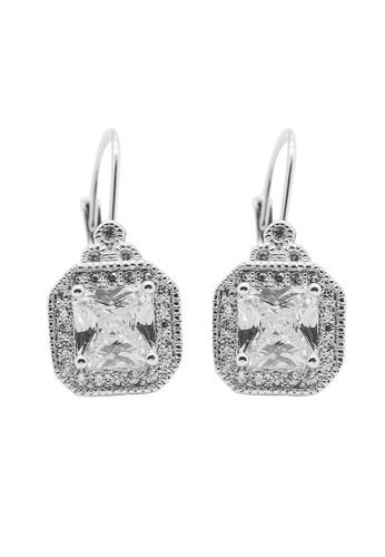 Elfi Elfi 925 Genuine Silver Square Diamond Drop Earrings SE70 1257BACA5062BEGS_1