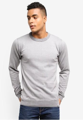 Indicode Jeans grey Florian Knitted Cotton Sweater 1210BAA6D66E25GS_1