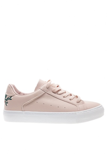 Twenty Eight Shoes white and pink Floral Embroidery Sneakers 6952 TW446SH2UXO3HK_1