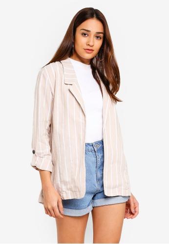 Cotton On beige Deconstructed Soft Blazer 0ADDDAA591B406GS_1