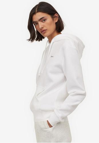 H&M white Hooded Top 7D004AA6D295E0GS_1