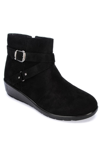 Alberto black Ankle Heeled Boots BC357SHD72F723GS_1