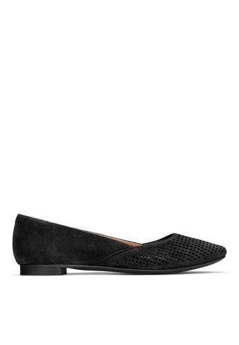 Vionic black Posey Pointed Toe Flat 099CASH8DD04BAGS_1