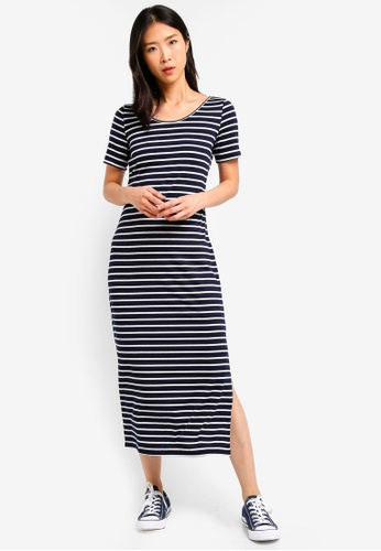 ZALORA BASICS multi Basic Midi T-Shirt Dress 54890AA62711CCGS_1