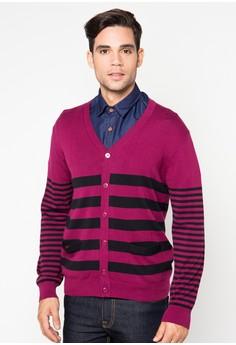 Mens Cardigan Stripe Colors