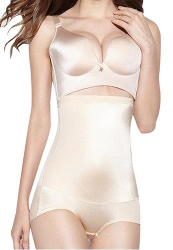 Golden Ticket Super Savers beige Seamless High Waist Veronica Panty with Tummy Control B428AUSB0DCE61GS_1