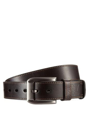 RAV Design brown 40mm Leather Belt RA113AC44LMLMY_1