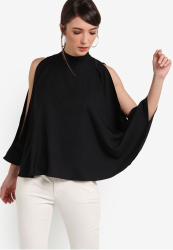 ZALORA black Collection Flared Sleeves Top 1267CAA4BA5286GS_1