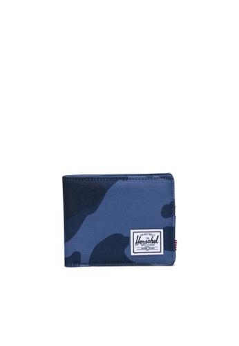 Herschel blue and multi Herschel Unisex Roy Wallet Peacoat Camo 53CD9AC54FFC60GS_1