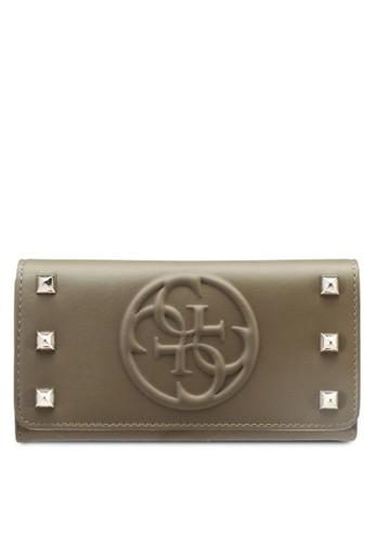 Korry 品牌浮雕鉚釘長夾, 包, esprit 寢具包