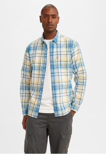 Levi's blue Levi's Classic 1 Pocket Shirt Men 85748-0076 CCA0BAA2B004E4GS_1