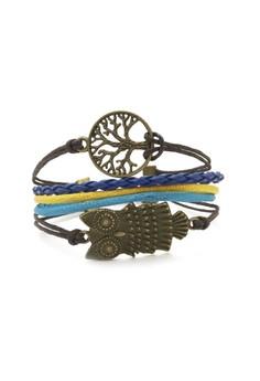 Owl and Tree Cord Bracelet