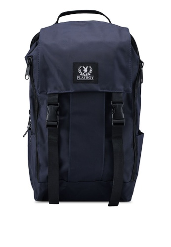 Playboy blue Playboy Laptop Backpack 23FF2AC38EC4EBGS_1