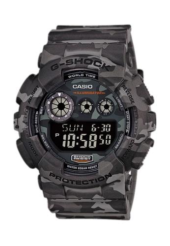 CASIO grey Casio G-Shock Urban Camouflage Grey Resin Watch D34F6AC264EA8EGS_1