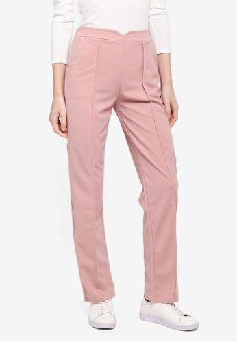 BYN pink Straight Leg Pants 9A0EDAA46D4587GS_1