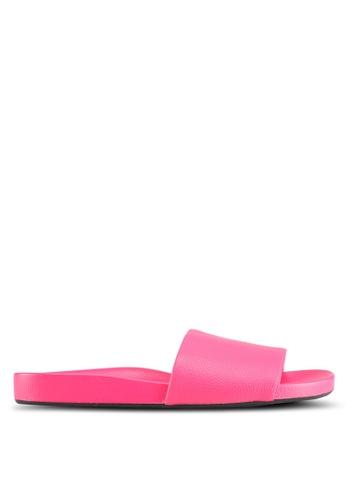 TOPSHOP 粉紅色 Homie Refined Sliders 71220SHC51D954GS_1