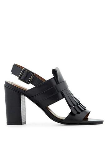 Minelli black F93 113 Leather Fringed Sandals - Tahani MI352SH0FJEWSG_1