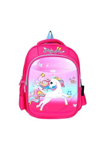 Poly-Pac pink Poly-Pac PK2023 12 inch Unicorn Kindy School Bag 012FCKCCE87E48GS_1