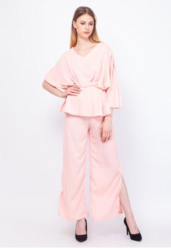 INSTYLE BY SURI pink Ayumi Set Peach B7BE2AA6EBC3F4GS_1