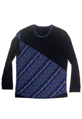 剪zalora taiwan 時尚購物網接石紋布長袖上衣, 服飾, 外套