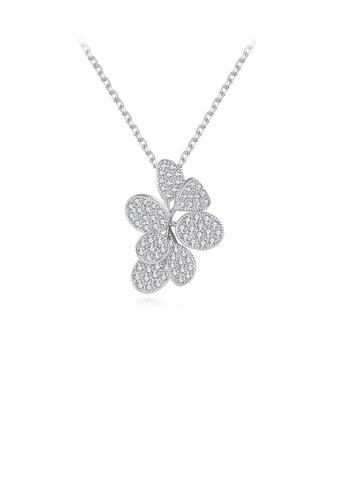 Glamorousky white Fashion and Elegant Flower Cubic Zirconia Pendant with Necklace 8C48FACBCBA8CAGS_1