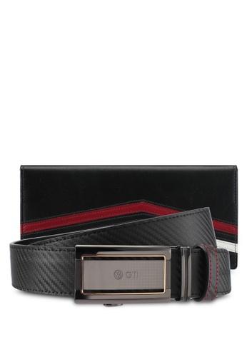 Volkswagen black Volkswagen Belt & Wallet Gift Set VO089AC0SM9YMY_1