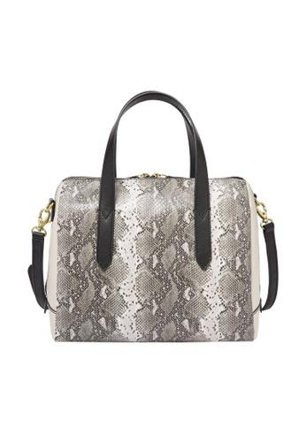 Fossil grey Sydney Satchel Bag SHB2320874 723CFAC20E6A84GS_1