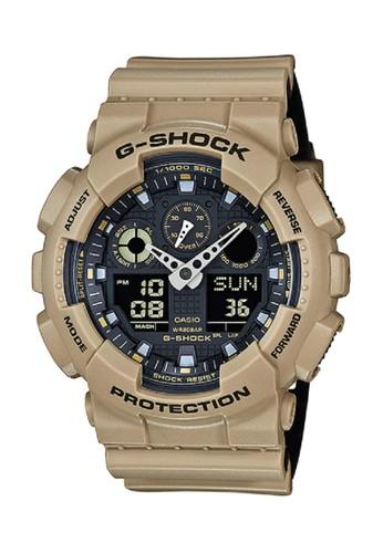 G-Shock black and brown G-Shock Men GA-100L-8A Brown Black FF620ACF59587EGS_1