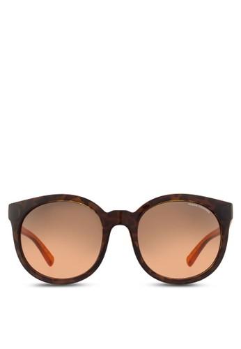 Armani Urban Attitude 琥珀紋理半透明鏡腿圓框太陽眼鏡尖沙咀 esprit, 飾品配件, 飾品配件