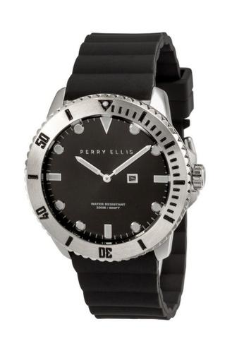 PERRY ELLIS black Perry Ellis Deep Diver Unisex 42mm Quartz Watch 06001-03 CA939AC9DB10CBGS_1