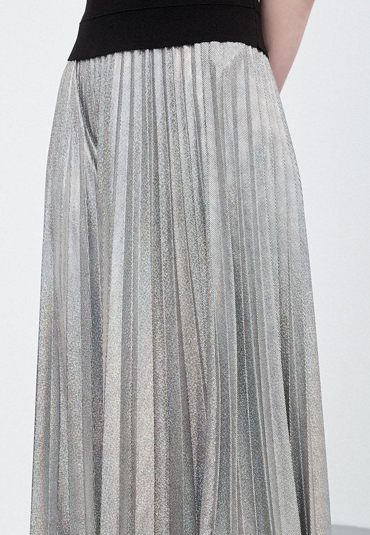 Silver Hopeshow Pleated Flare Midi Skirt ppOxnF