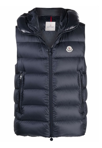 """MONCLER navy Moncler """"Montreuil"""" Down Vest in Navy 52C28AA060F188GS_1"""