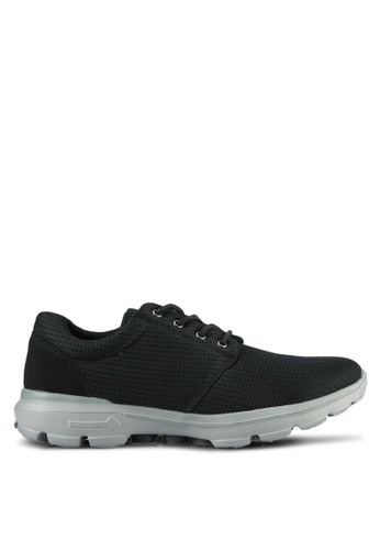 UniqTee black Lightweight Lace Up Sport Sneakers UN097SH0S21EMY_1