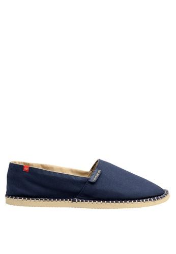 Havaianas brown and navy Origine III Slip-on Sneakers HA021SH04DCTPH_1