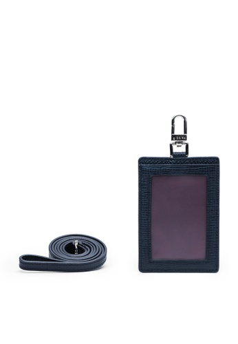 Faire Leather Co. navy Specter CG1 Cardholder with Lanyard (Navy) - Leather Accessories 9EB31AC5971F6CGS_1