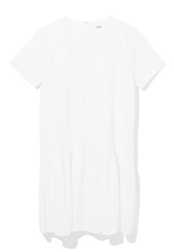 b+ab white Embroidered eyelet dress 0E9D2AA8041E07GS_1